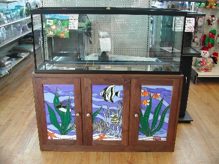 Aquarium Cabinet W  Stained Glass Panels bbfe2f9a5