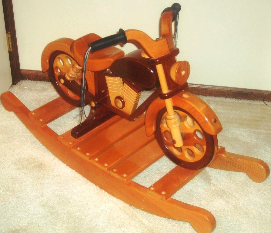 Wooden motorcycle rocking horse plan pdf plans for Woodworking plan for motorcycle rocker toy