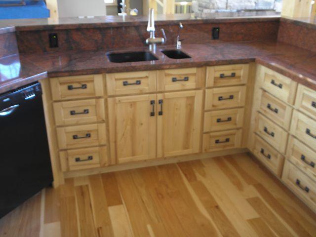 Custom sandblasted rustic ash kitchen for Ash wood kitchen cabinets