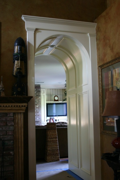 how to put molding around an arch