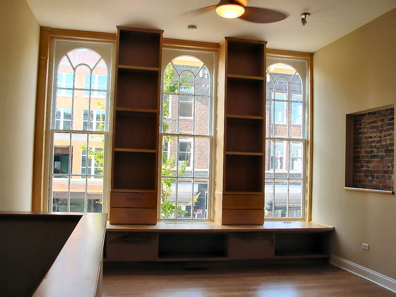 Bookcase and Benchseat - Bookcase & Bench Seat For Loft Apartment