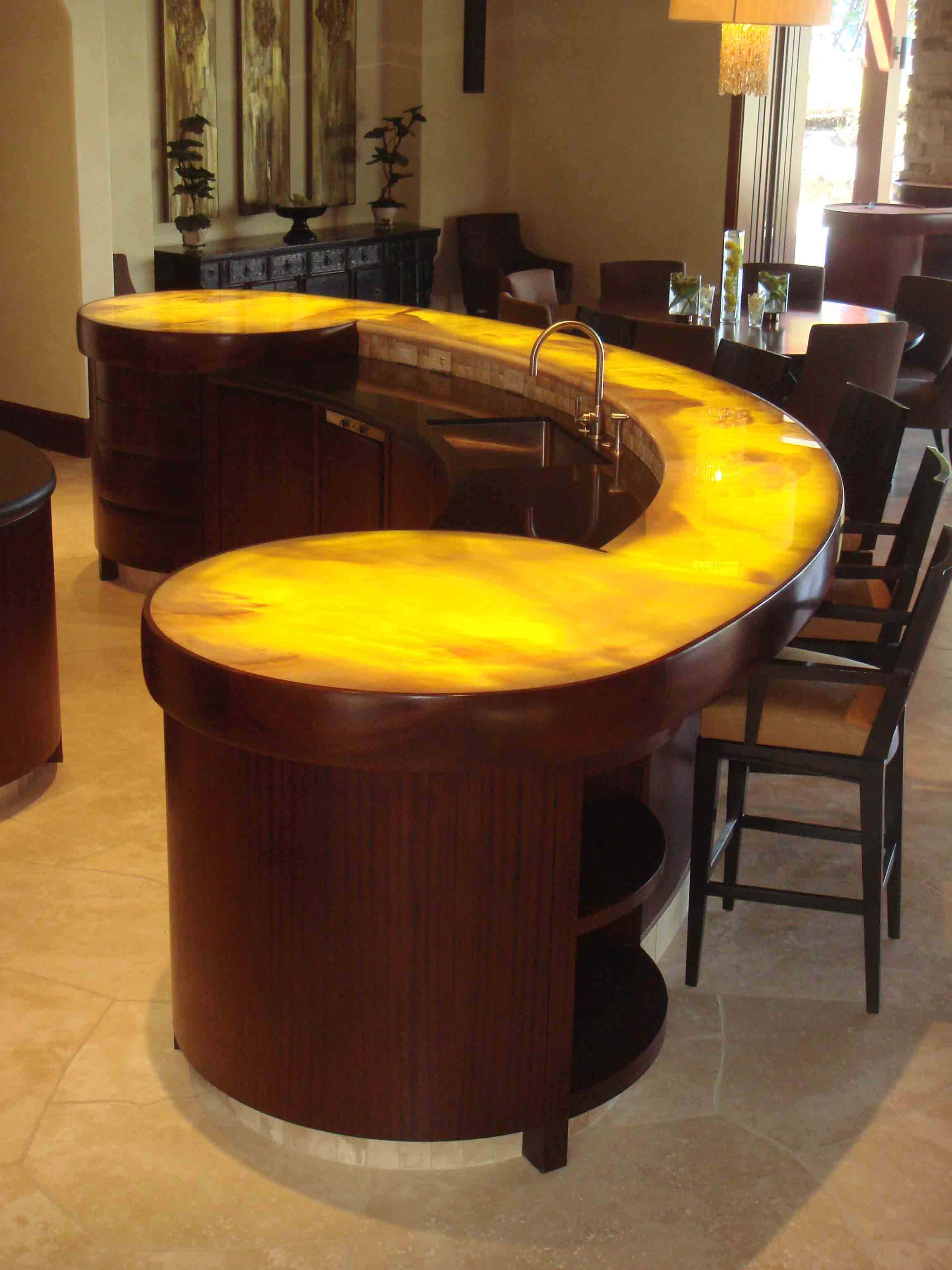 Designs projects of chad reitan for Cool kitchen tables