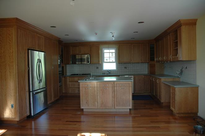 High gloss red anigre kitchen and other things for Anigre kitchen cabinets