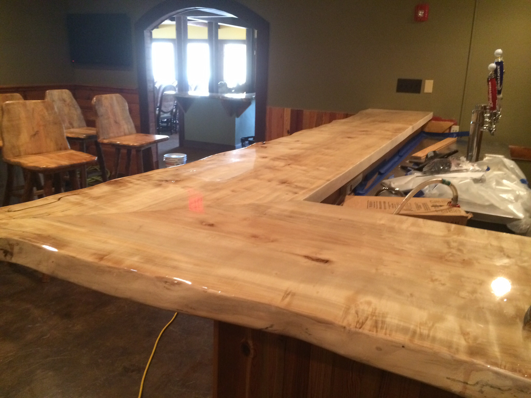Mcconnell millworks for Maple slab countertop