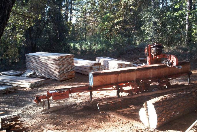 Ron trout portable sawmill service for Mill log