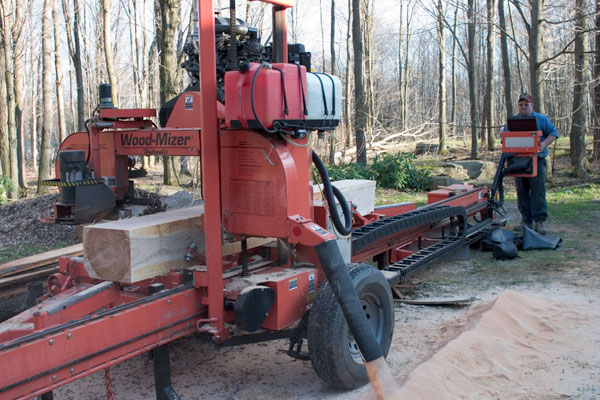 Woodmizer portable mill