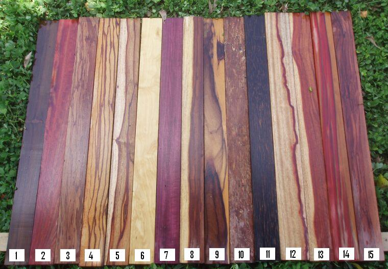 most exotic wood