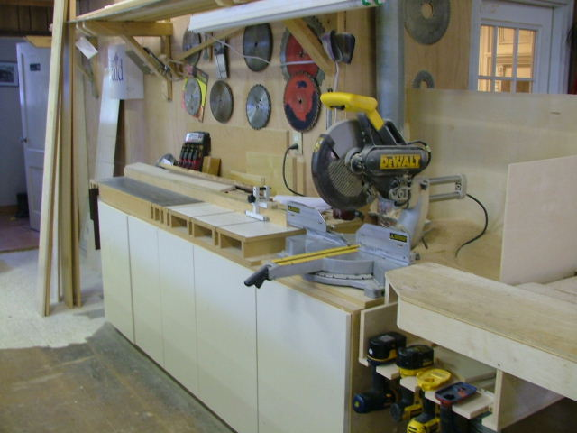 chop saw station