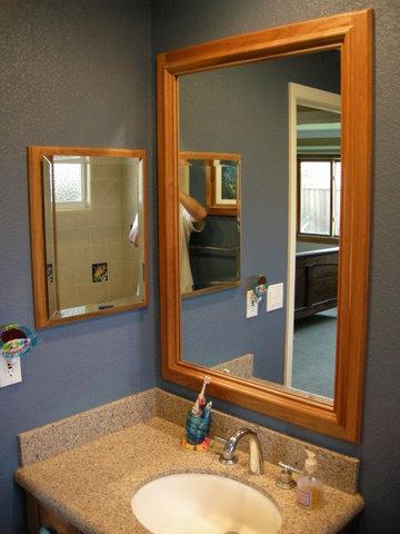 cherry medicine cabinet u0026 mirror frame
