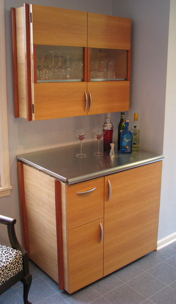 Keith jones woodworking for Anigre kitchen cabinets