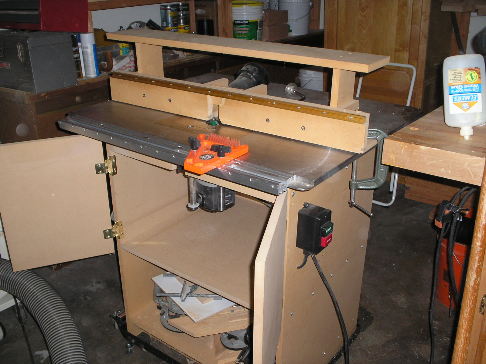 my shop built router table