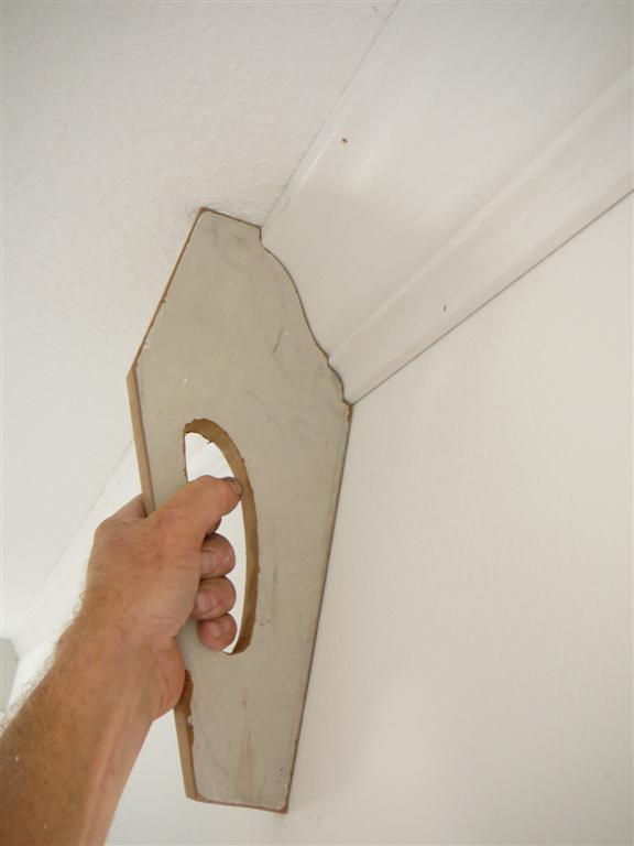 Installing three piece crown moulding solo for Crown molding size chart