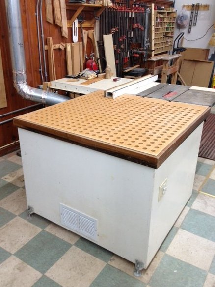 Outfeed Downdraft Sanding Table