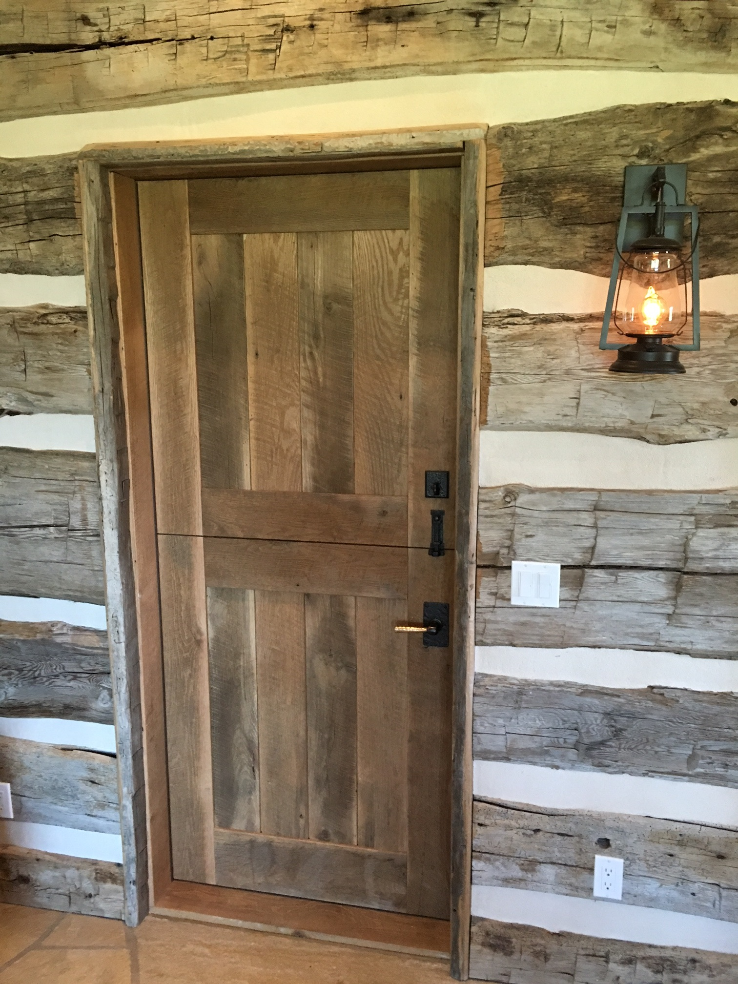 Re doors from old barnwood for Wood stile and rail doors