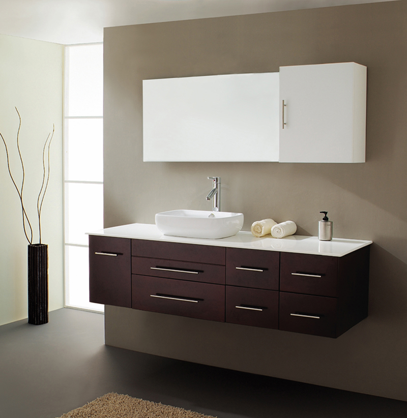 Wall To Wall Bathroom Vanity. View Higher Quality Full Size Image