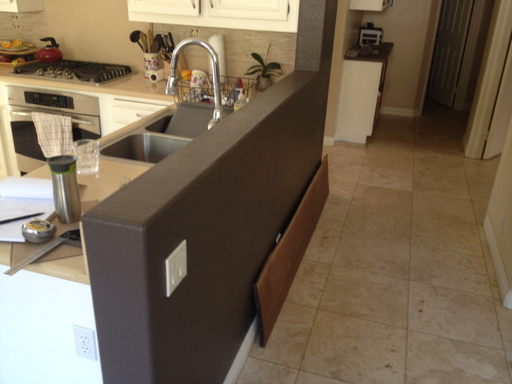 Installing Walnut Countertop On Knee Wall Woodweb S