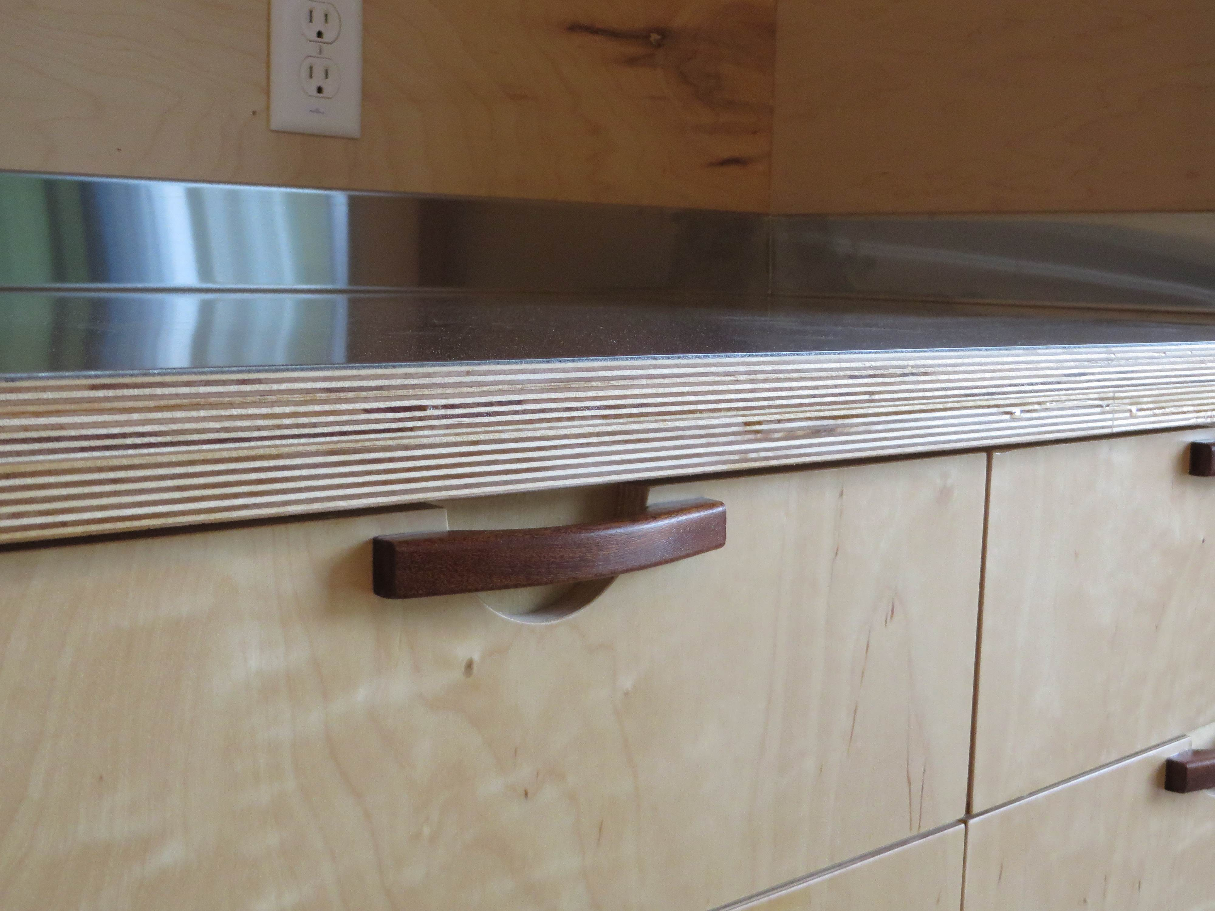 Timber Substrate Kitchen Cabinet