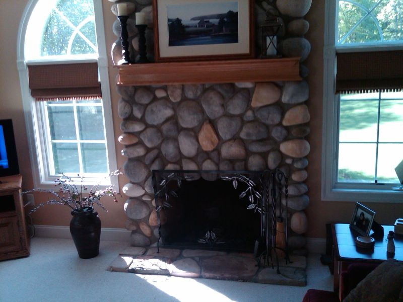 A Wood Mantle For An Existing Stone Fireplace