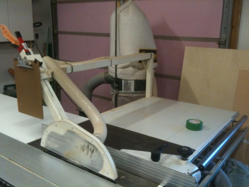 Aftermarket Dust Collection For A Sliding Table Saw
