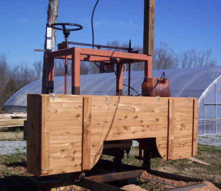 homemade log saw horse building your own bandsaw mill