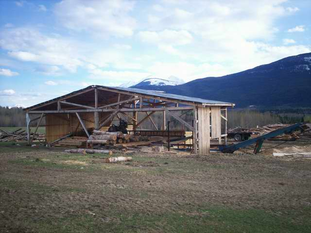 Base And Shelter Ideas For A Bandsaw Mill