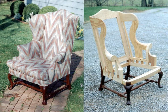 Wingback chair woodworking plans for How to build a wooden table from scratch