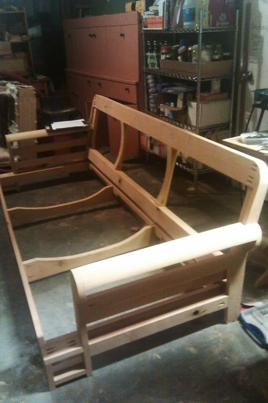 building a club couch from scratch rh woodweb com building furniture from scratch Building a Shower From Scratch