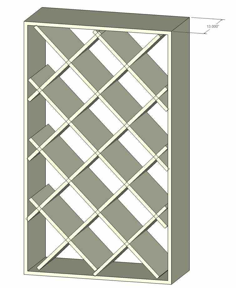 plans diamond wine rack