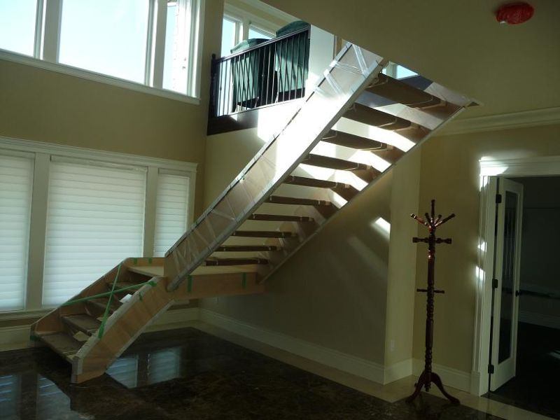Finishing Wood Stairs On Site