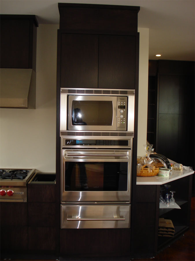 Frameless Oven and Microwave Cabinets