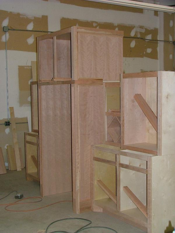Full Height Refrigerator Cabinet Construction