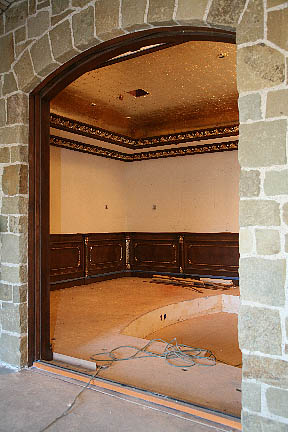 Hanging Pocket Doors In A Half Round Top Opening