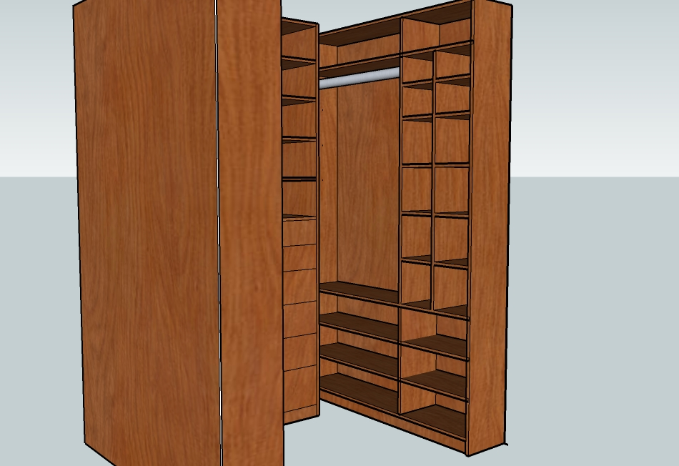 Hidden Dowel Joinery For Closet Shelf Assembly
