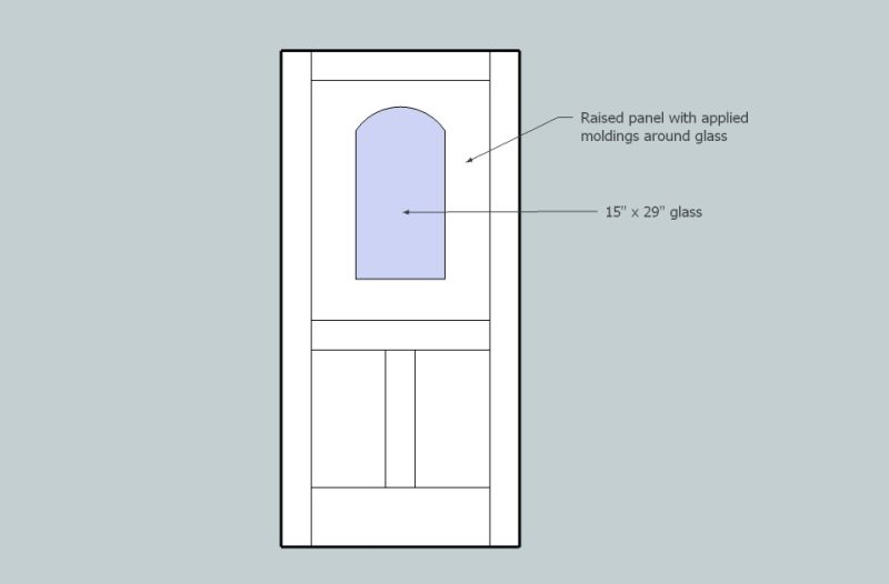 Inserting Glass Into A Wood Entry Door