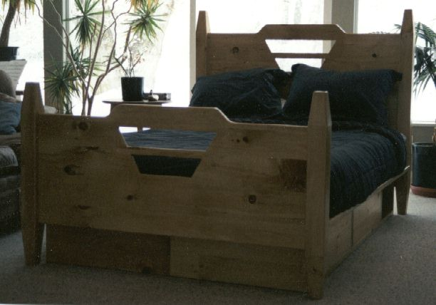 Plans for building a king size bed floor plans - Build your own king size platform bed ...