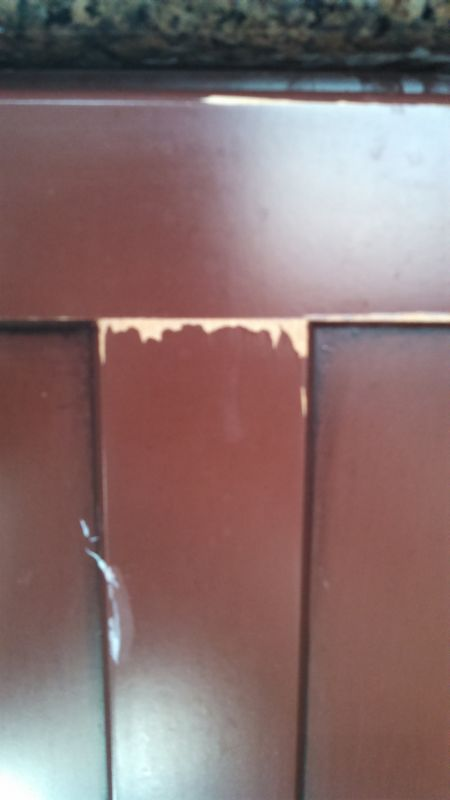 Paint Peeling Off Manufactured Cabinets
