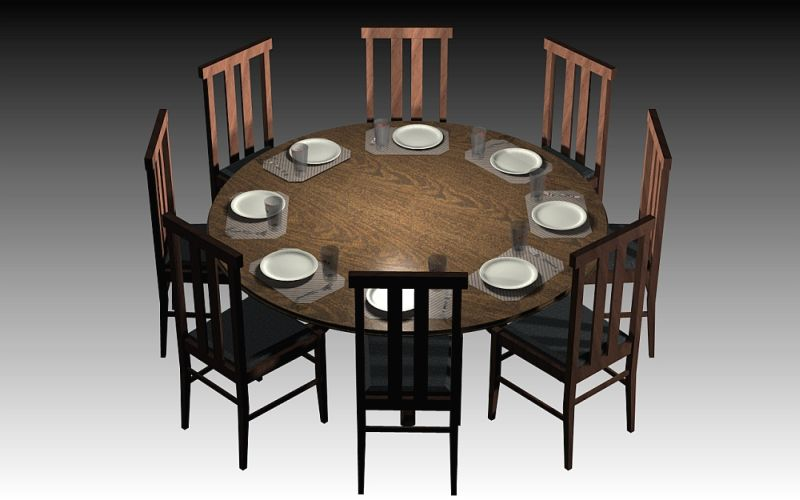 Round Dining Table Dimensions, Round Table Size For 8