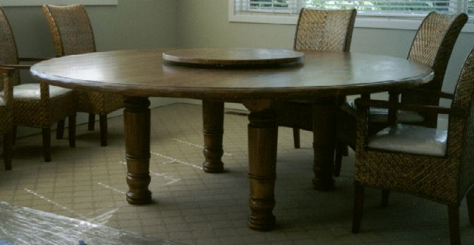 Round Dining Table For 6 With Lazy Susan round dining table dimensions