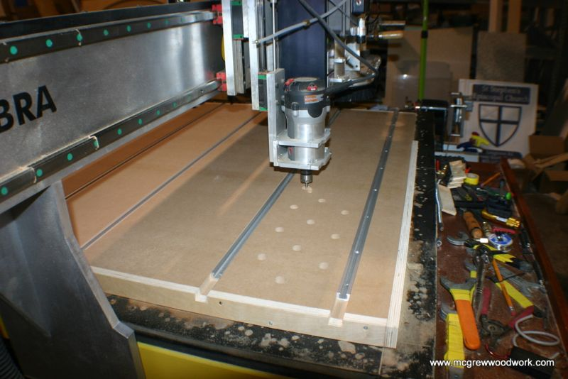 Shop Rigging A Small Vacuum Table For A Pod And Rail Cnc