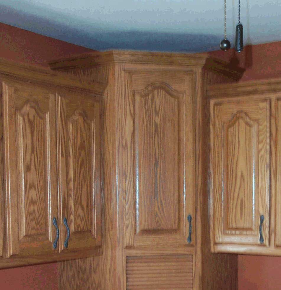 Crown Moulding for Uneven Height Cabinets