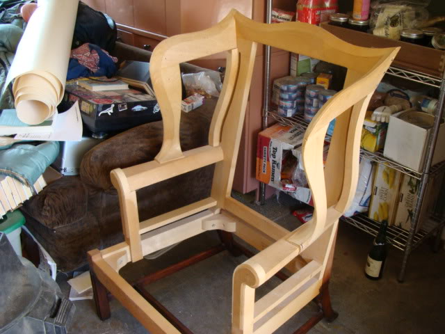 wing back chair show and tell