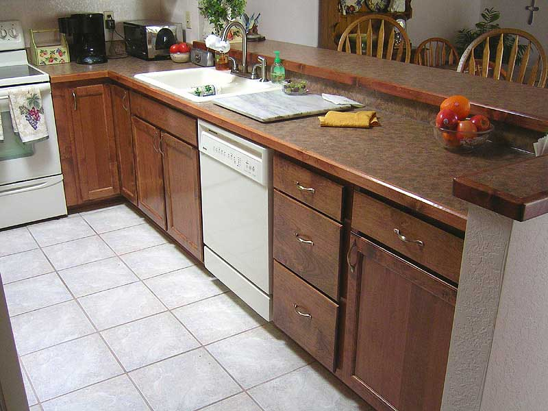 White Laminate Kitchen Countertops white laminate countertop. apply oilbased primer to countertops