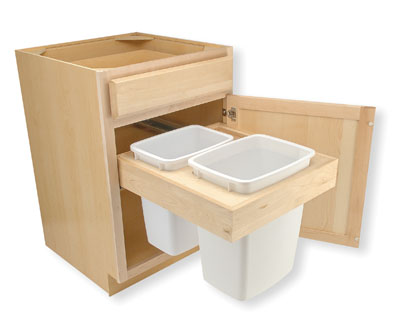 Trash Bin Pull-Out Drawer Dimensions