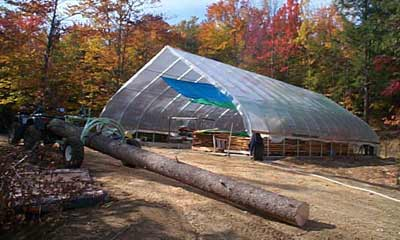 Building a sawmill shed