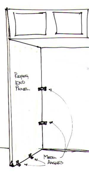 Installing Refrigerator End Panels