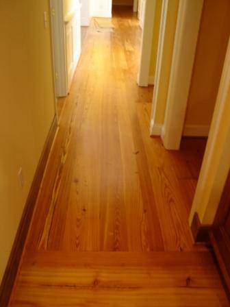 Glued Down Wide Pine Flooring