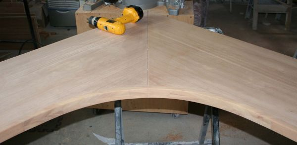 Solid Wood Curved Counter Edge