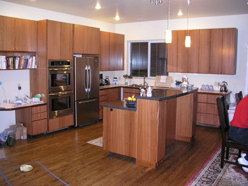 Sapele Wood Kitchen Cabinets