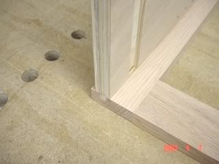 the way you do it requires three runs one for each side of the ply and then the dado for the face frame