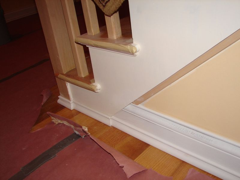 Baseboard To Stairs Trim Transition